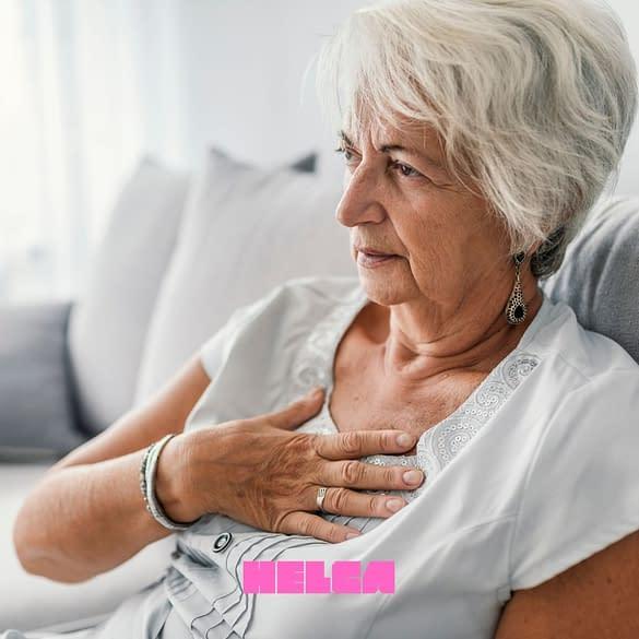 Vrouw met brandend maagzuur